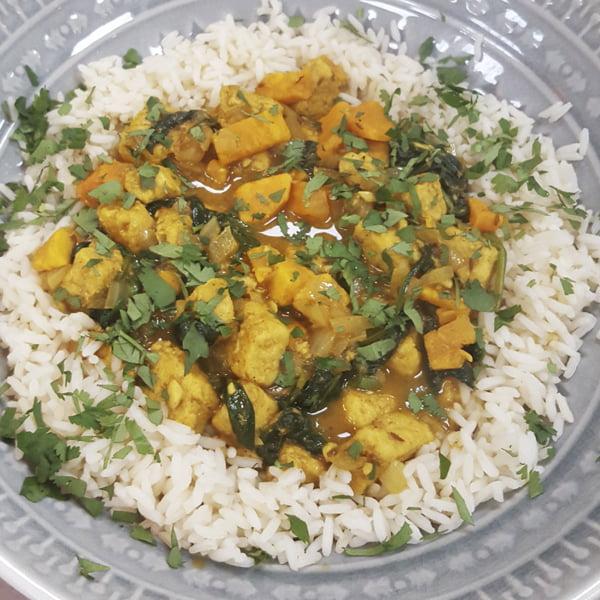 Quorn Vegan Cookalong - Quorn & Sweet Potato Curry