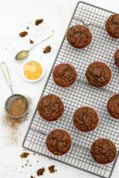 Ginger & Chocolate Beetroot Muffins [vegan] by The Flexitarian