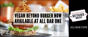 Vegan Beyond Burger Now Available from All Bar One