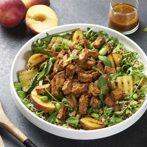 Griddled Peach, Courgette and Teriyaki Tofu Salad v6