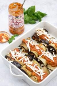Aubergine Roll Ups - Vegan Bolognese Sauce Sacla by Annabelle Randles   The Flexitarian