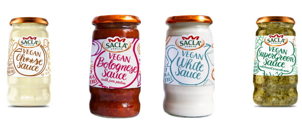 Sacla Vegan Sauces