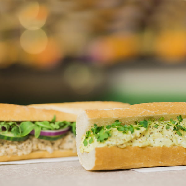 Veggie Pret - The Vegan Classics - The Vegan Eggless Mayo & Cress baguette and The Vegan Chuna Mayo baguette