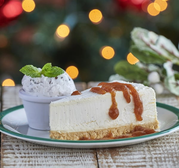 Frankie & Benny's Vegan Christmas Menu Mince Pie No-Cheesecake