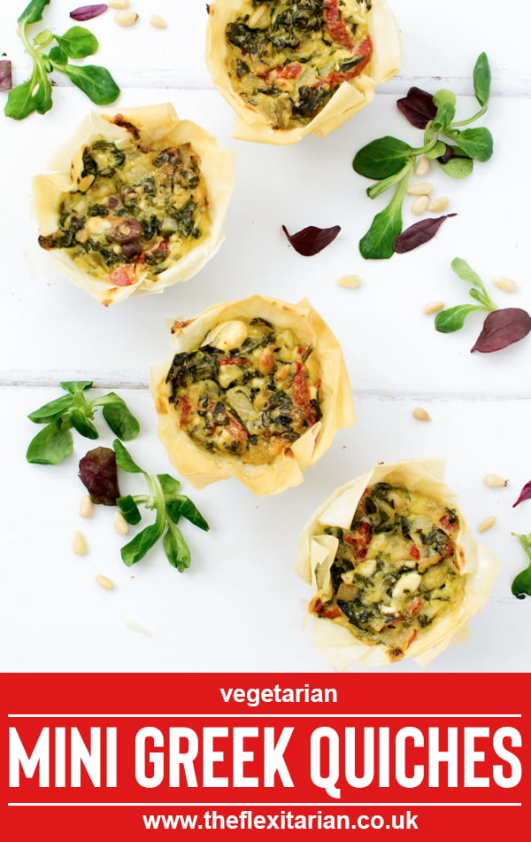 Mini Greek Quiches [vegetarian] 2019 © Annabelle Randles The Flexitarian
