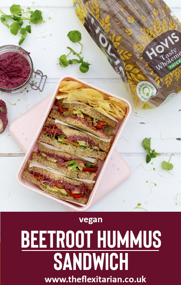 Beetroot Hummus Sandwich [vegan]  2020 © Annabelle Randles | The Flexitarian