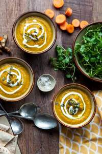 Watercress, Turmeric and Carrot Soup [vegan] by The Watercress Company