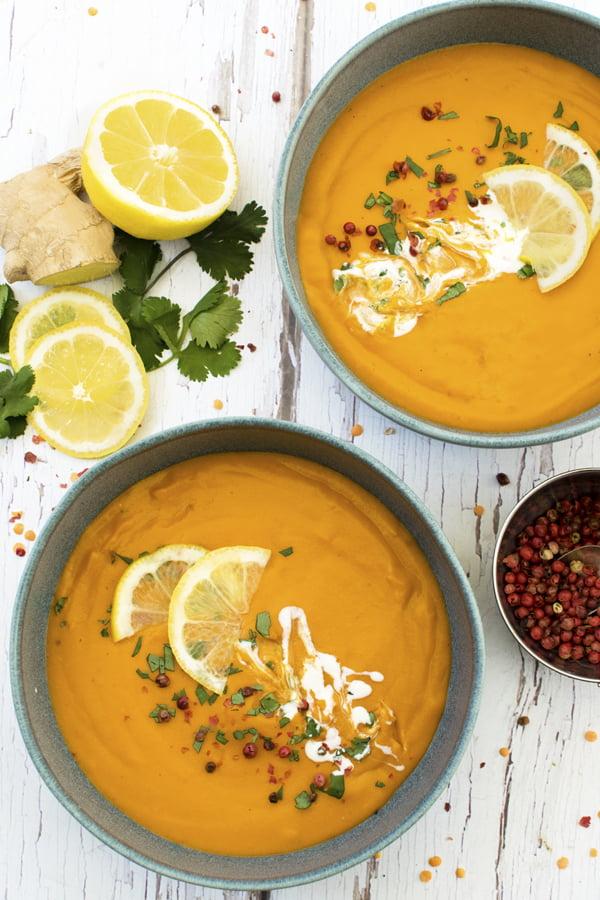 Lemon & Ginger Red Lentil Soup | The Flexitarian