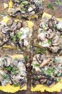 Mushroom Polenta Tart [vegan] | The Flexitarian