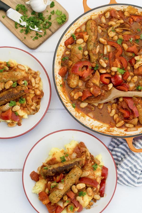 Vegetarian Sausage Casserole