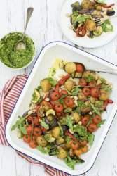 Summer Vegetable Traybake [vegan] 2020 © Annabelle Randles   The Flexitarian