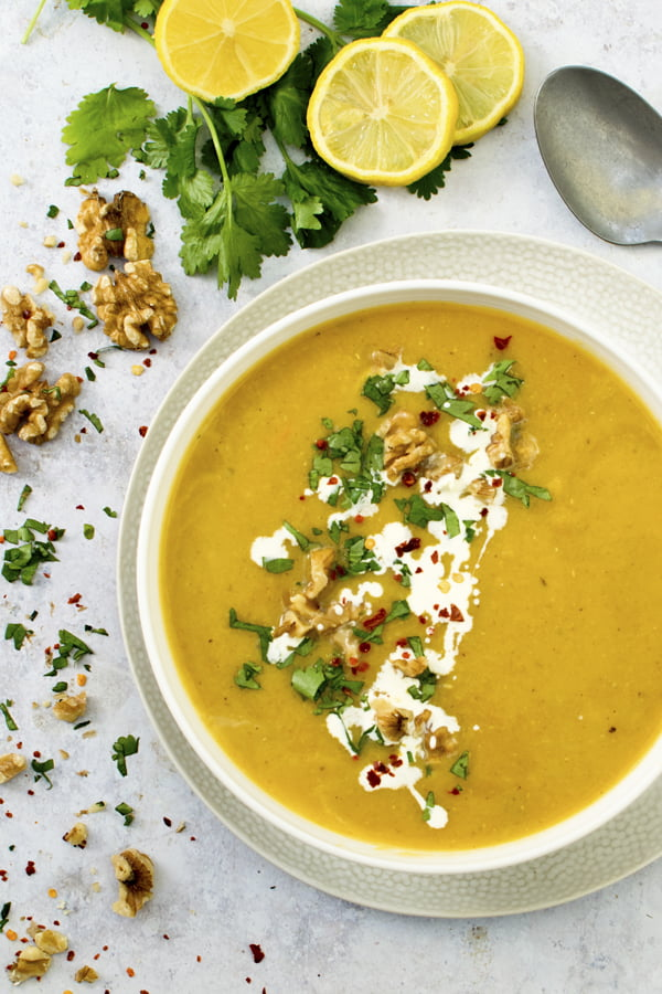 Curried Butternut Squash Soup [vegan] by The Flexitarian