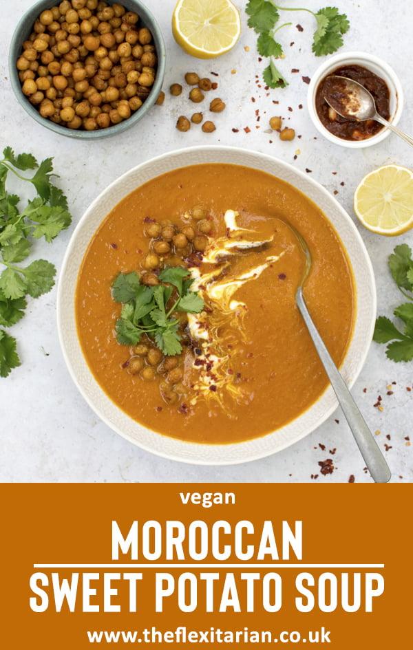 Moroccan Sweet Potato Soup by The Flexitarian
