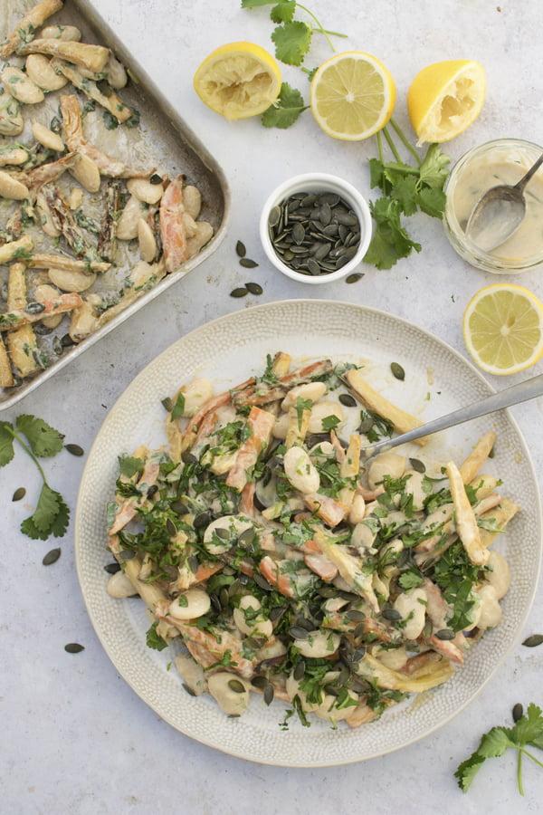 Roasted Carrot & Parsnip Salad [vegan] The Flexitarian