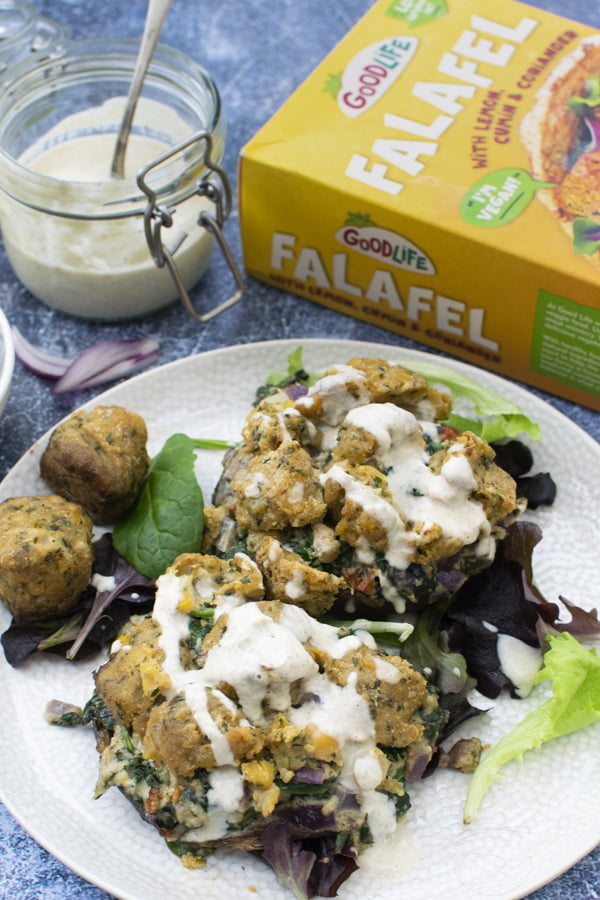 Stuffed Mushrooms with Falafel Crumble [vegan] by The Flexitarian