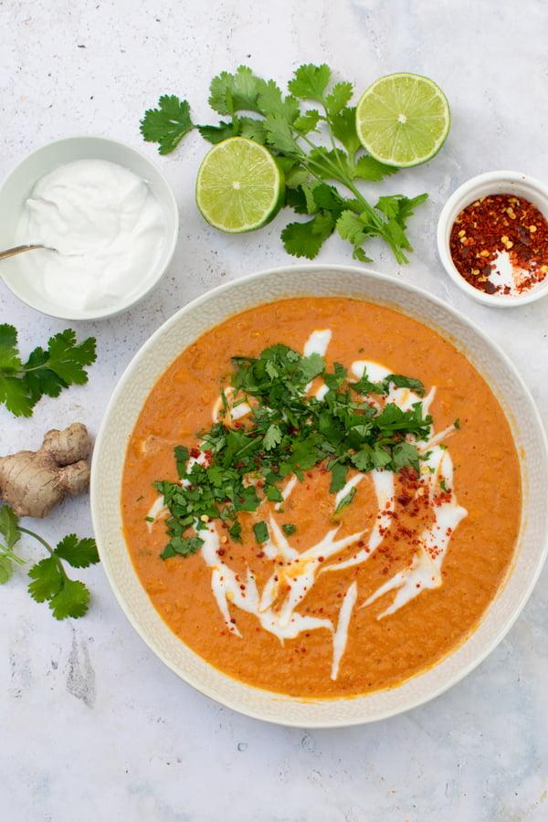 Thai Red Lentil Soup [vegan]