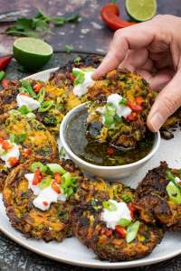 Cabbage & Carrot Fritters [vegetarian]