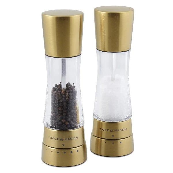 Cole & Mason - Derwent Gold Gourmet Precision+ Salt & Pepper Mill Set