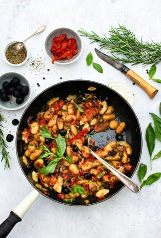 Mediterranean Pan Fried Gnocchi [vegan] The Flexi