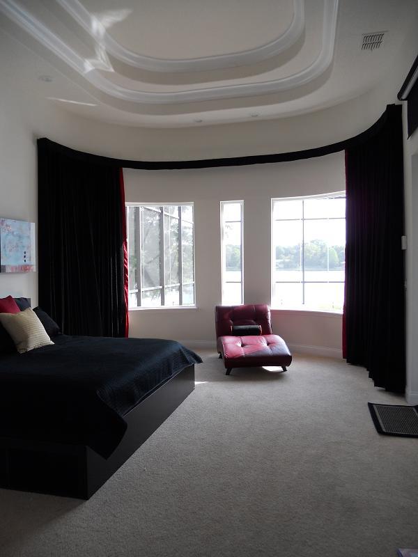 ceiling curtain rod