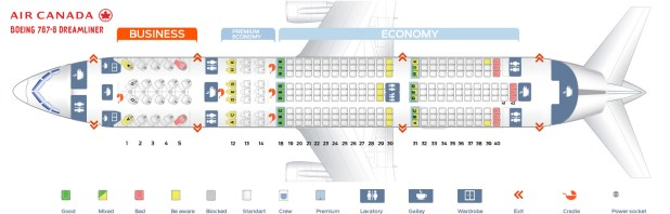 Seat Map Boeing 787 800 Dreamliner Air Canada