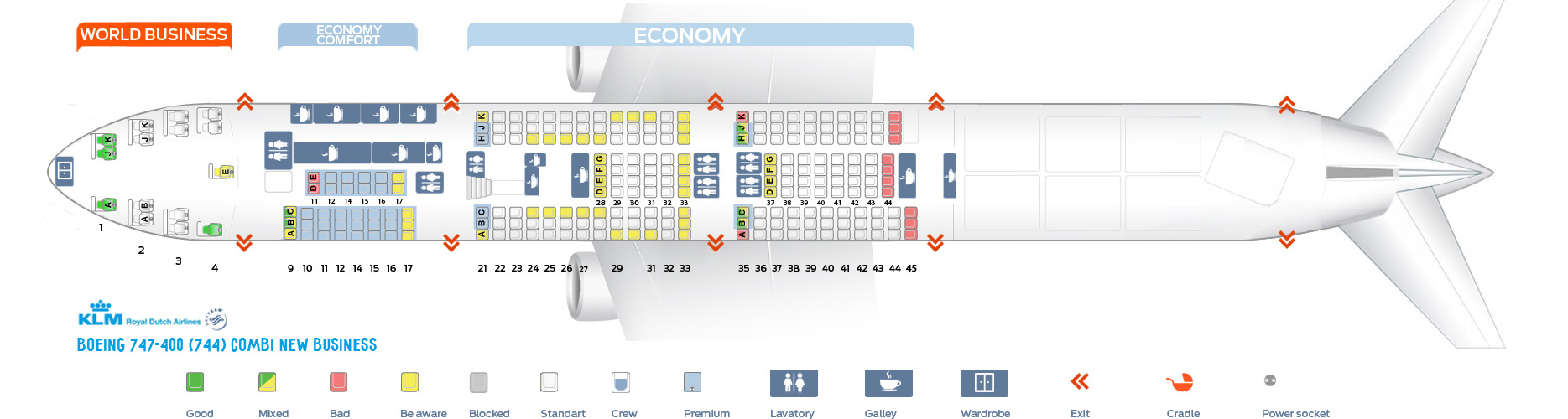 Boeing 747 400 Seat Layout