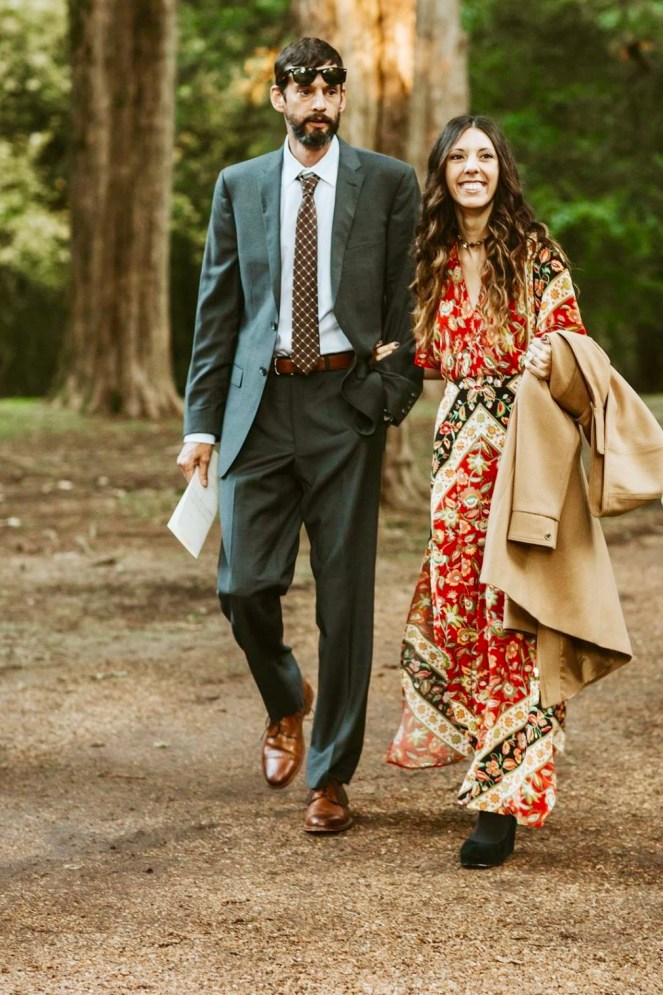 married couple happy love spell & the gypsy lolita campfire dress outdoor wedding