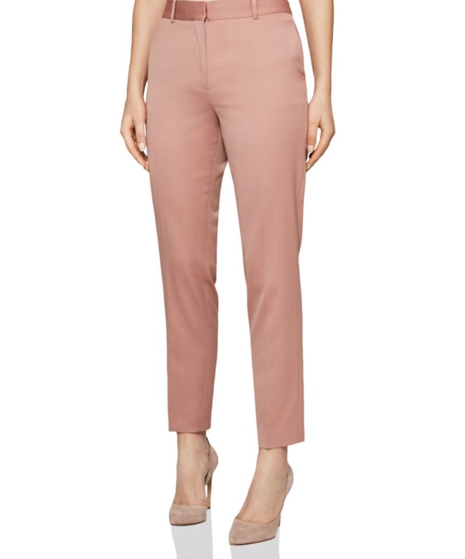 reiss blush pants harper slim tailored pants nude pumps
