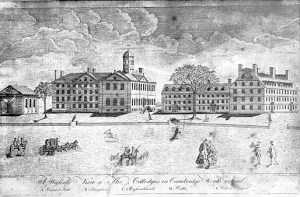view of harvard college