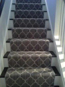 Carpet Runners For Westchester County | Carpet Runners For Steps | Good Quality Carpet | Starter Step Carpet Runner | Solid Colour | Hollywood | Light Grey