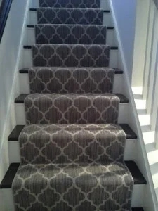 Basement Stairs Best Flooring Choices For Steps The Flooring Girl   Carpet For Basement Stairs   Exterior   Finishing   Navy Blue   Herringbone   Berber
