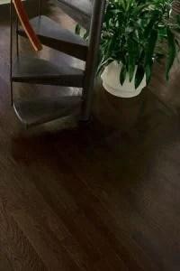 Time to refinish Hardwood floors ebony stain - Westchester NY