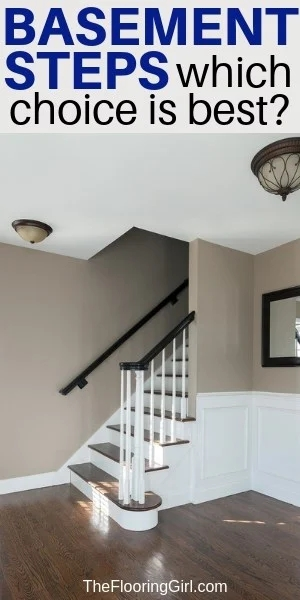 Basement Stairs Best Flooring Choices For Steps The Flooring Girl | Cost To Add Stairs To Basement | House | Flooring | Stair Treads | Stair Case | Unfinished Basement