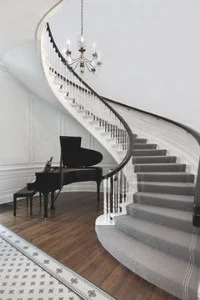 Flooring Trends For 2020 Real Trends For Real People The   Industrial Carpet For Stairs   Shaw Floors   Persian Carpet   Stair Railing   Carpet Workroom   Handrail