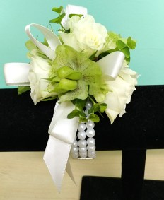 Prom Corsage with Pearls