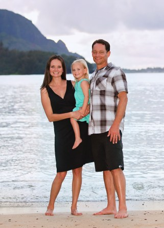 photo of our family in Kauai