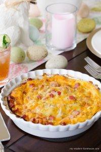 ham & cheese egg bake