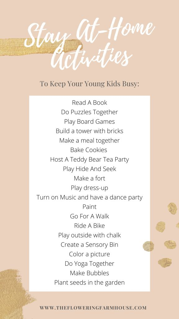 20 activities to keep kids busy