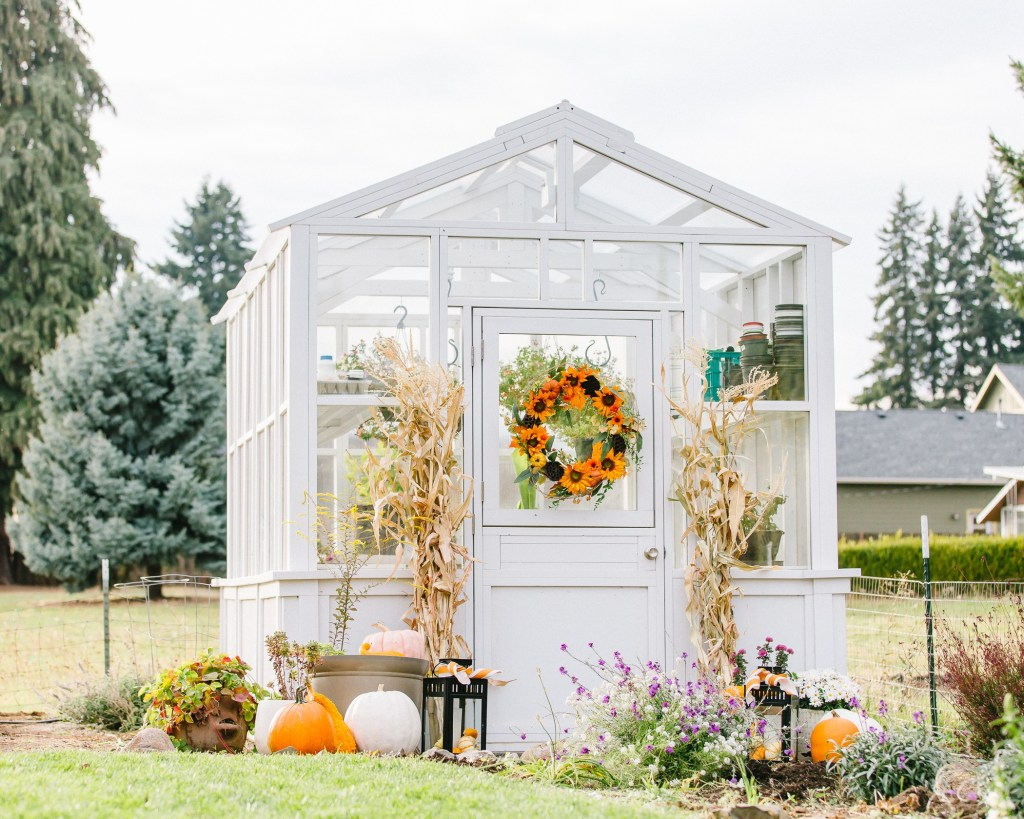prepare your garden for fall by cleaning your greenhouse