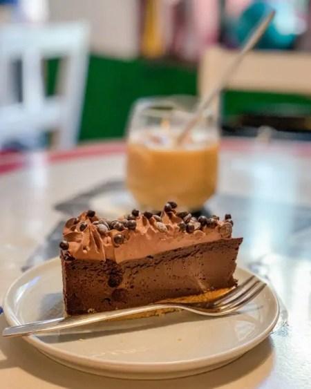 How is this cake vegan?! Enjoy delicious vegan food in Vilnius at vegan cafe Chaika.