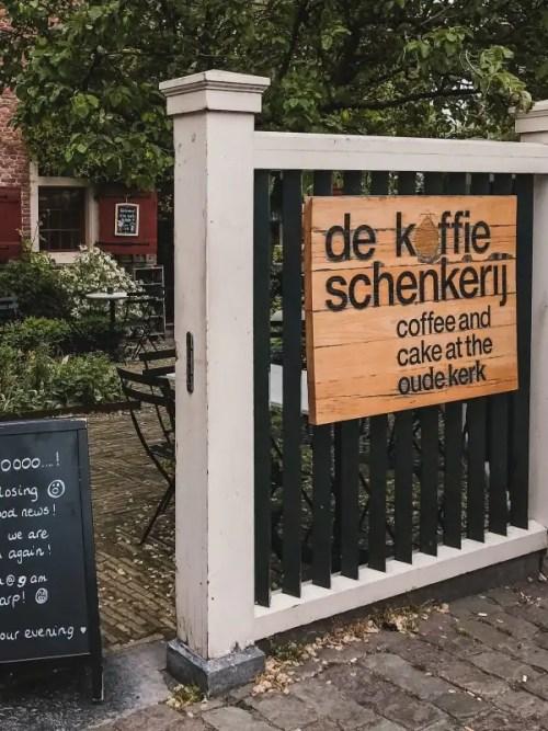 De Koffieschenkerij is located in the Oude Kerk in Amsterdam. It's definitely one of the best cafes in Amsterdam.