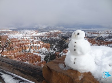 snow man from the viewpoint