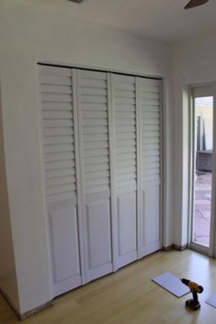 Beautiful new closet doors.