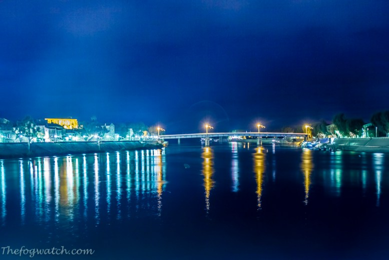 Not so starry night over the Rhone - [Jerry Everard]