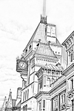 London - the Strand rendered as a drawing