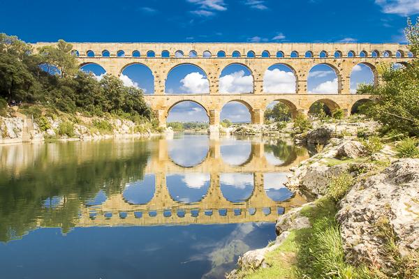 Pont dy Gard Roman aqueduct