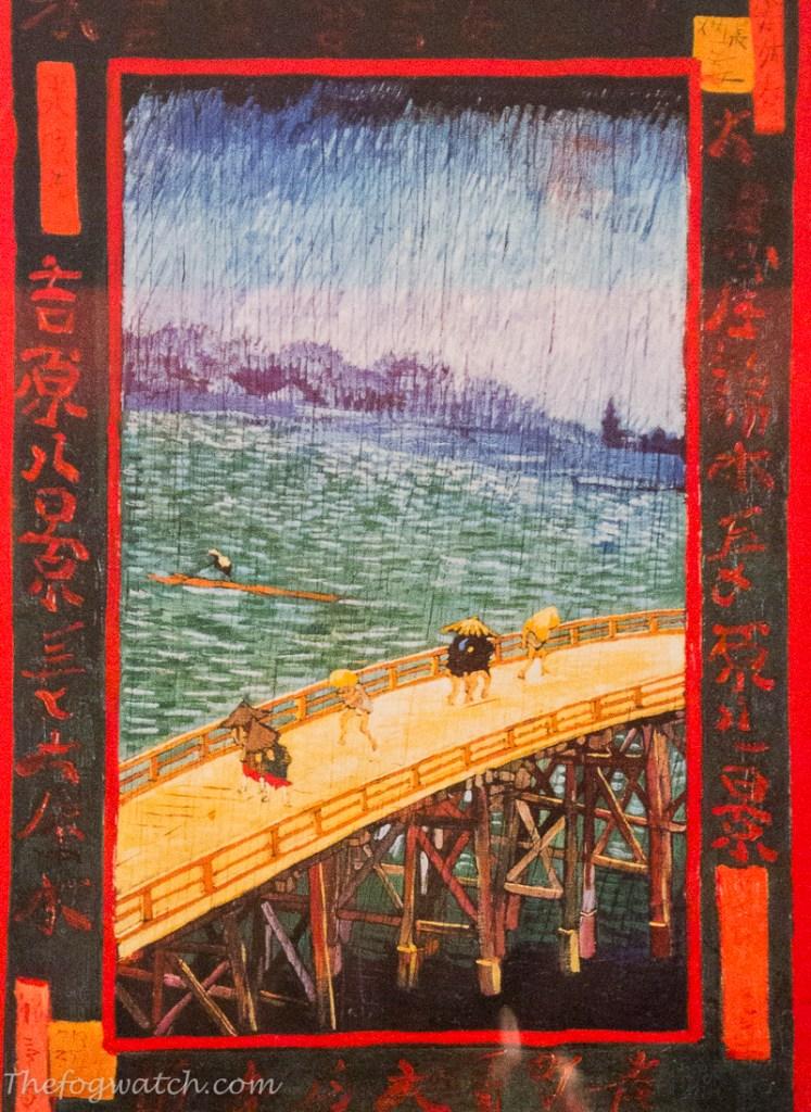 Van Gogh copy in oil of Hiroshige's Sudden Shower over Shin-Ōhashi bridge and Atake. [photo-Jerry Everard]