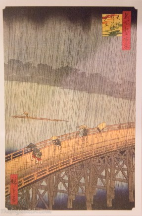 Hiroshige's Sudden Shower over Shin-Ōhashi bridge and Atake