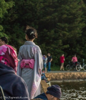 Woman in Japanese kimono