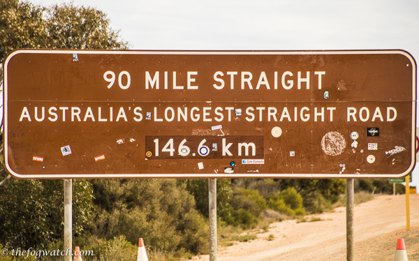 90 mile straight sign